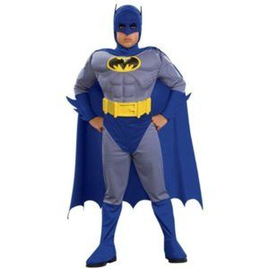 Rubie's S Costume Batman Muscle Jumpsuit Cape Boot